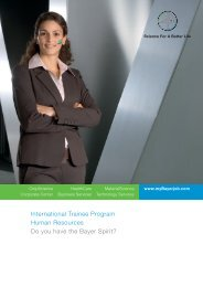 International Trainee Program Human Resources ... - Mybayerjob.de