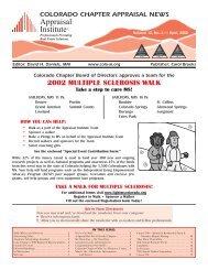 colorado chapter appraisal news - Colorado Appraisal Institute