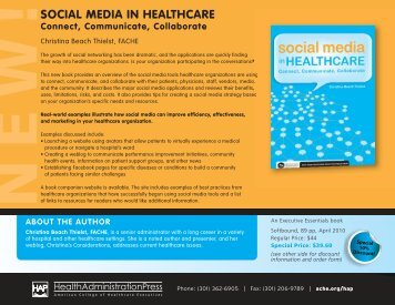 book on use of social media in healthcare - Christina's Considerations