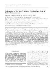 Pollination of the lady's slipper Cypripedium henryi - Red de ...