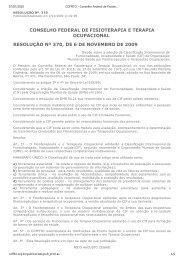 RESOLUÇÃO COFFITO nº 370, de 6 de novembro de 2009 - Crefito ...