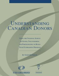 Understanding Canadian donors - Giving and - Imagine Canada