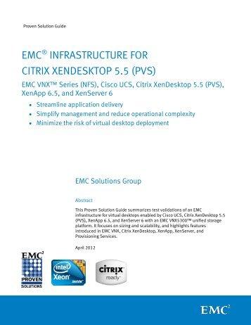 Proven Solution Guide: EMC Infrastructure for Citrix Xendesktop 5.5 ...