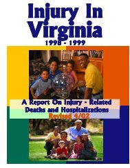 Injury in Virginia - Office of Family Health Services