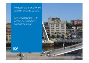 Creative Economies - Arts Development UK