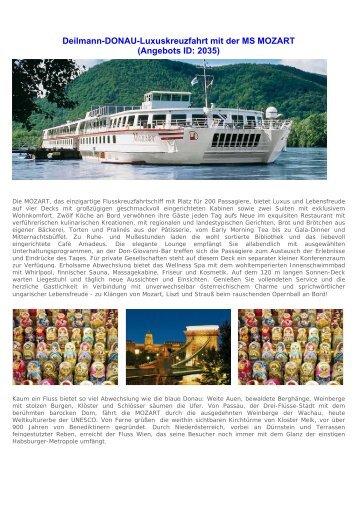 Deilmann-DONAU-Luxuskreuzfahrt mit der MS ... - ebuchen.com