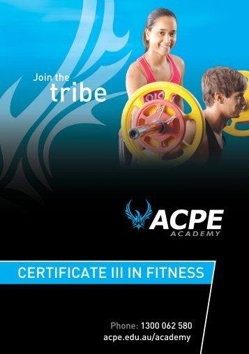 Certificate III in Fitness (PDF) - Martin College