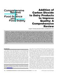 Comprehensive Food Science and Food Safety Reviews in