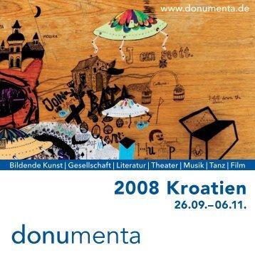"""Programm der """"donumenta"""" 2008"""