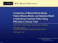 Comparison of Mixed-Effects Model, Pattern-Mixture Model, and ...