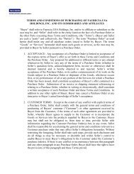 TERMS AND CONDITIONS OF PURCHASING OF FAURECIA USA ...