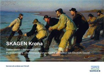 SKAGEN Krona september - SKAGEN Fonder