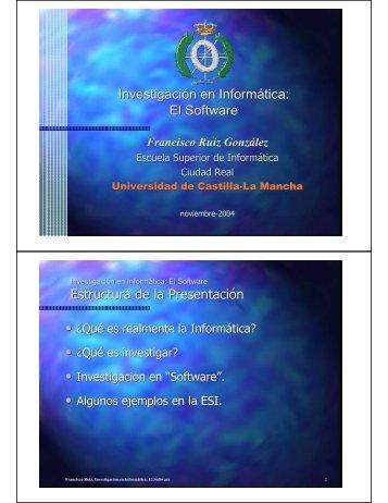 Investigación en Informática: El Software Estructura de la Presentación