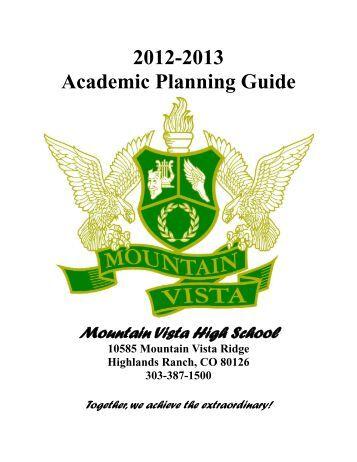 Academic Planning Guide 2012-2013 - Mountain Vista High School