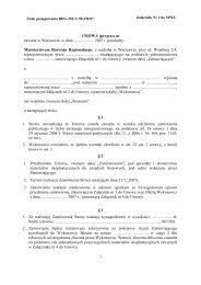 Wzór umowy - Ministerstwo Rozwoju Regionalnego