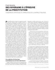 Des riverains à l'épreuve de la prostitution. Fondements ... - Cesdip