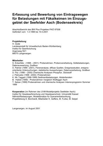 download, pdf, 755 kb - Aktionsprogramm Seefelder Aach