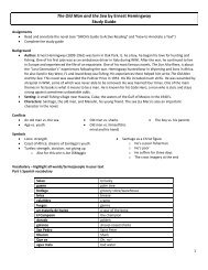 The Old Man and the Sea by Ernest Hemingway Study Guide