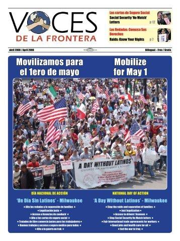 Movilizamos para el 1ero de mayo Mobilize for May 1 - Voces De La ...
