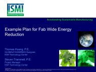 Energy Reduction Concepts for New and Existing Fab - Sematech