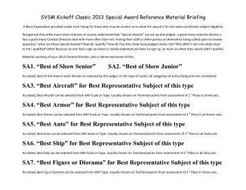 Special Awards Information - IPMS Santa Rosa