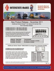 New Product Release – November 2011 - Interstate McBee