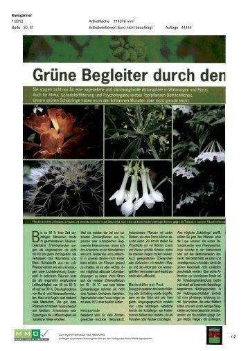 03. Jänner; Kleingärnter [1,1 MB] - Natur im Garten