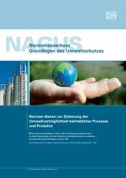 Mitglied im Normenausschuss Grundlagen des Umweltschutzes