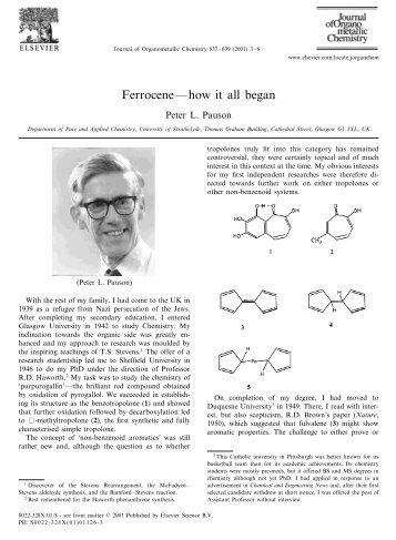 Ferrocene—how it all began