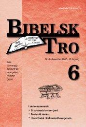 www.bibelsk-tro.no • Et rotskudd av tørr jord • Tro inntil ... - Lyd i Natten