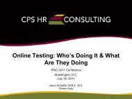 Online Testing: Who's Doing It & What Are They Doing - IPAC