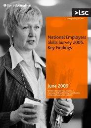 National Employers Skills Survey 2005: key findings - lsc.gov.uk ...
