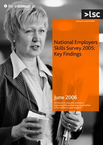 National Employers Skills Survey 2005: key findings - lsc.gov.uk ...