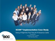 SCOR™ Implementation Case Study - Supply Chain Council