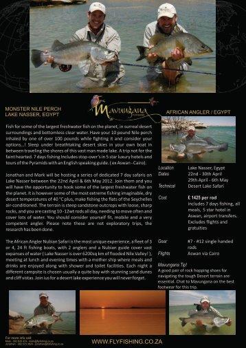 Egypt 2012 - Mavungana Flyfishing