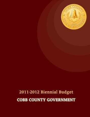 2011-2012 Biennial Budget CoBB County Government