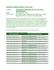Storagetek 2540 RAID End of Life (EOL)