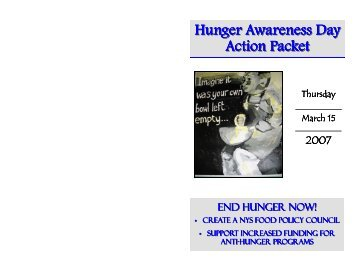 Action Packet - Hunger Action Network in NYS