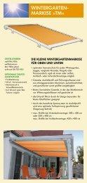 WINTERGARTEN- MARKISE »TM« - Fensterbau Kaiser