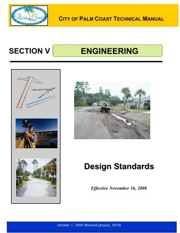 city of palm coast technical manual engineering design standards
