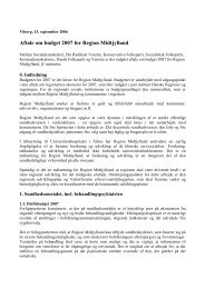 Aftale om budget 2007 for Region Midtjylland