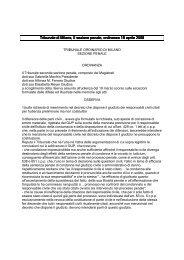 Tribunale di Milano, II sezione penale, ordinanza 18 ... - Aodv231.it
