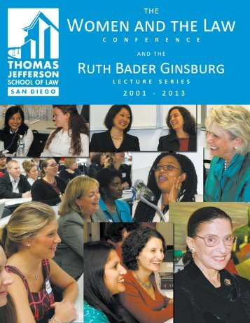 2001-2013 WLC and the Ruth Bader Ginsburg Lecture Series History