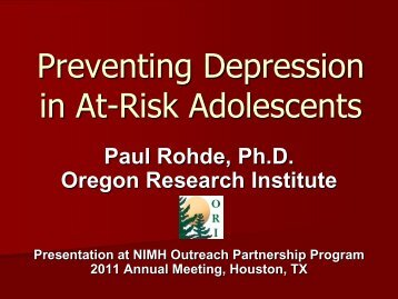 Preventing Depression in At-Risk Adolescence - The Balanced Mind ...
