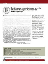 Continuous subcutaneous insulin infusion therapy ... - ResearchGate