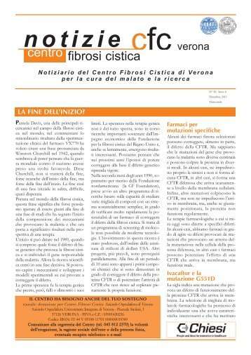 N. 20, Anno 6, Dicembre 2011 - Centro Regionale Veneto Fibrosi ...