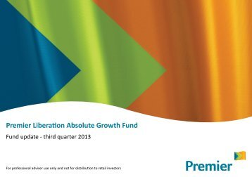 Quarterly report - Q3 2013 - Premier Asset Management