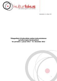 Se hele tillægsaftalen for 2012 her. (Download som pdf) - Kulturfokus