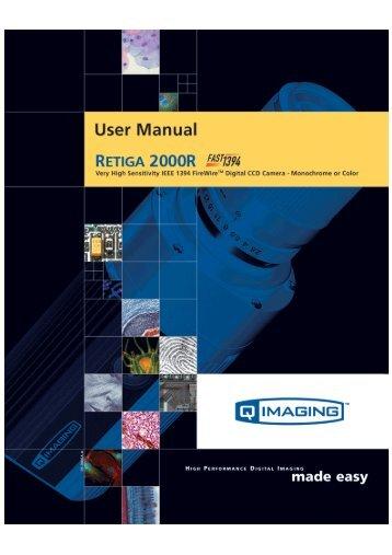 Retiga 2000R User's Manual - QImaging