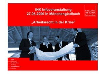 arbeitsrecht in der krise ihk mittlerer niederrhein - Geschftsfhrervertrag Muster